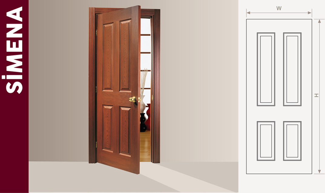 Pvc Laminated Wooden Door At All Sizes Low Price With